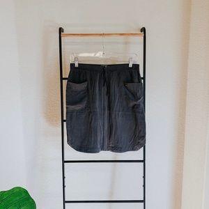 Banana Republic Gray Zip up Mini Skirt